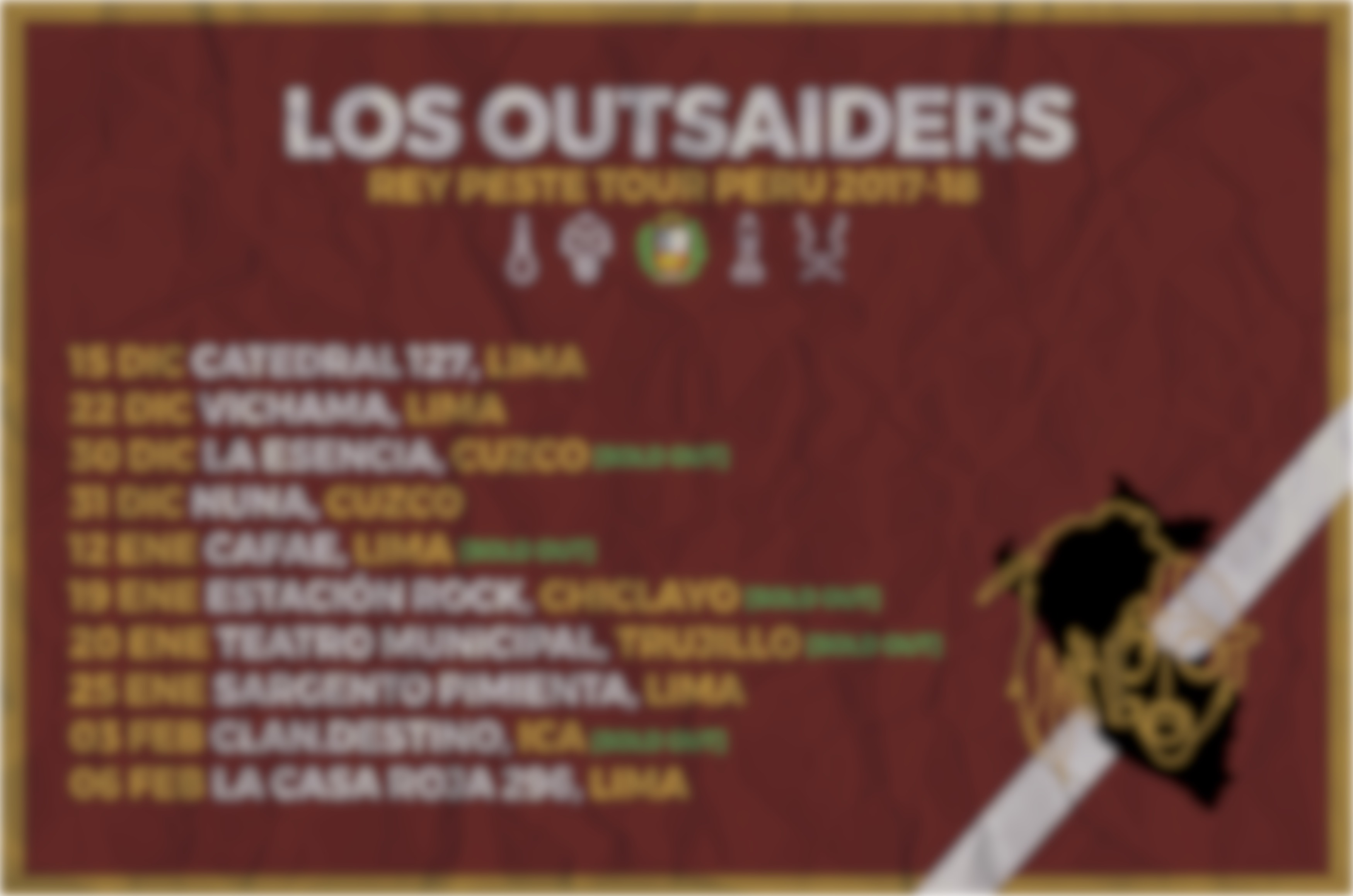 LOS OUTSAIDERS EN TRUJILLO (VIDEO)
